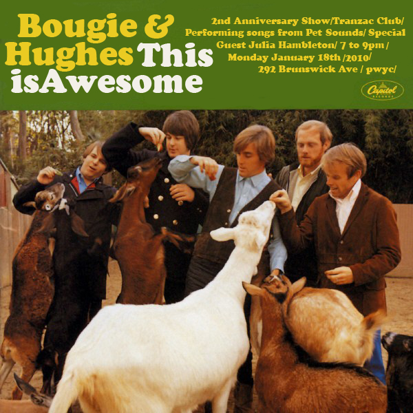 Bougie, Hughes and Hambleton play Pet Sounds